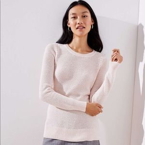 LOFT Cable Knit Stretchy Sweater